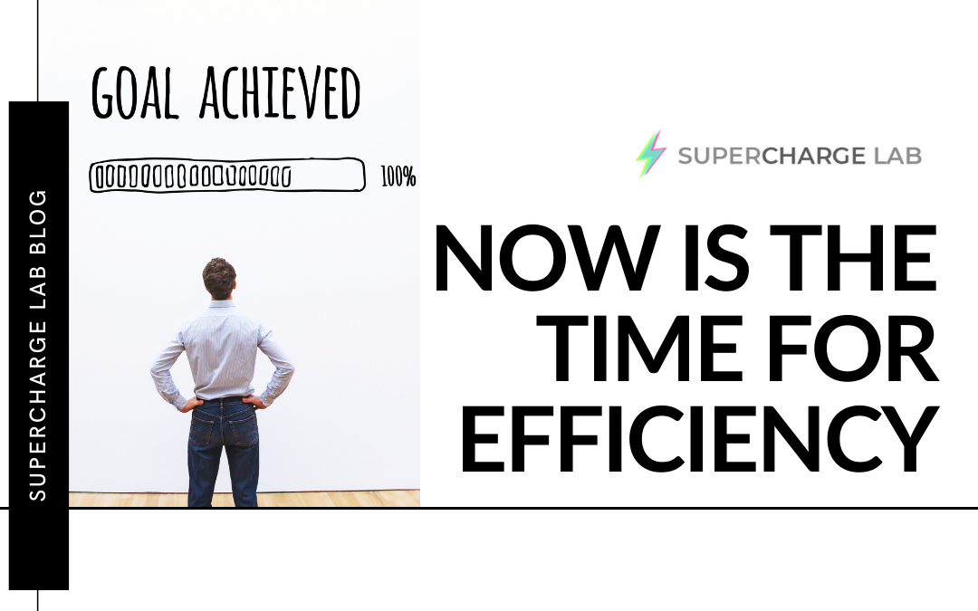 Now Is the Time for Efficiency